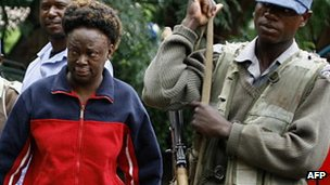 Zimbabwean human rights activist Jestina Mukoko arriving at a magistrate's court in Harare on 24 December 2008