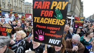 Teacher union march