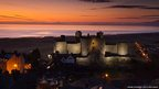 Harlech Castle in the twilight