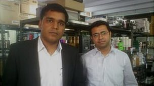 Purplle founders Manish Taneja and Rahul Dash