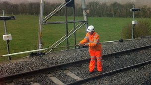 Train engineers at Hanslope