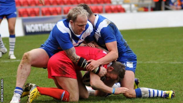 Swinton Lions in action against Doncaster