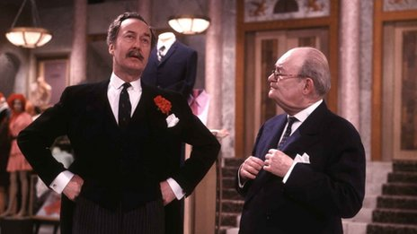 Arthur Brough as Mr Ernest Grainger in Are You Being Served? in 1973