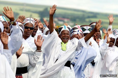 African worshippers in Durban