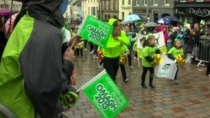 St Patrick's Day parade in Omagh