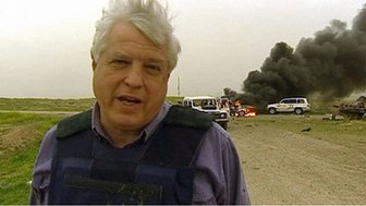 John Simpson after a friendly fire attack in Iraq, 2003
