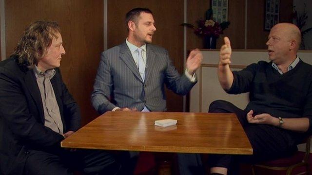 Darrragh MacAnthony, Pete Winkelman and David Cardoza