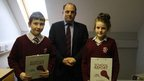 School Reporters Michael and Anna with Ben Wallace MP