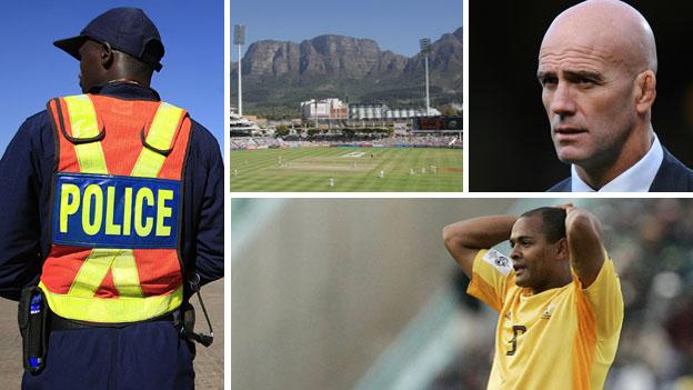 South African policeman, Table Mountain, John Mitchell, Shaun Bartlett