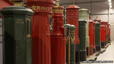 Postboxes at the British Postal Museum