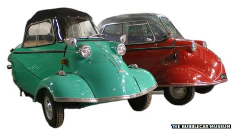 Two Messerschmit bubble cars