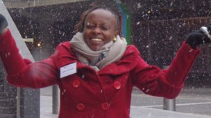 Grace in snow