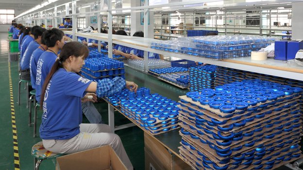 X-mini speakers being manufactured at a factory in China