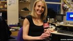 Women's marathon World Record holder, Paula Radcliffe holds a School Report mic