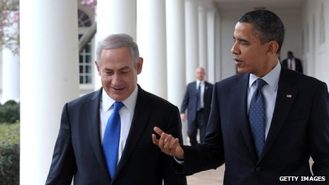 Israeli Prime Minister Benjamin Netanyahu meets President Barack Obama at the White House on 5 March 2012