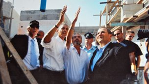President Obama visiting Sderot before he entered the White House