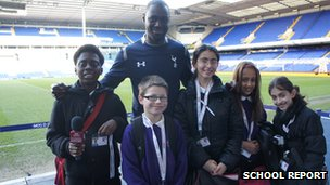Ledley King with the School Reporters