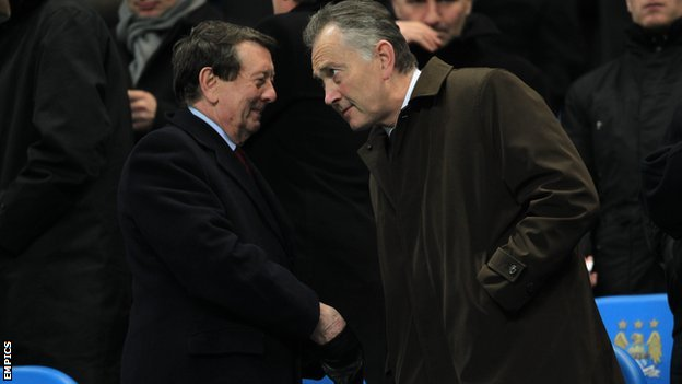 Premier League chairman Sir Dave Richards (left) and chief executive Richard Scudamore