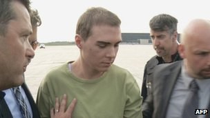 Luka Magnotta escorted by police in Montreal, Canada 18 June 2012