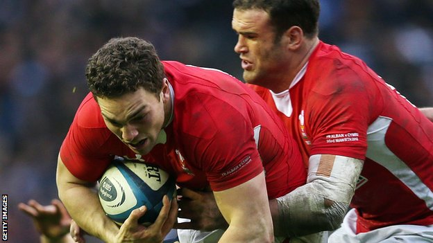 George North and Jamie Roberts