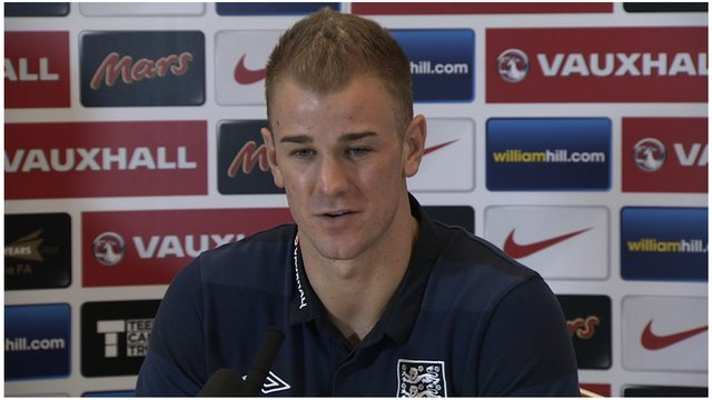 Joe Hart speaks to the media
