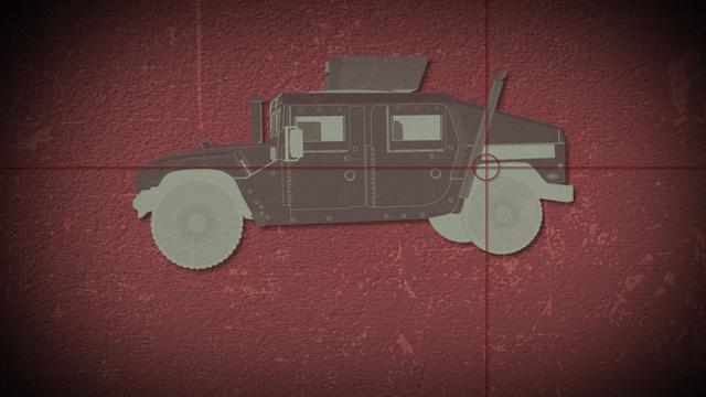 Humvee illustrator with crosshairs