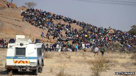 Marikana mine strikers (15 August 2012)