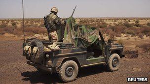 French soldier in Mali (9 March 2013)