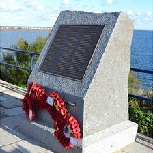 HMS Affray memorial in Alderney