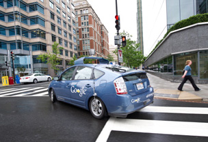 Google's self-drive car in Washington DC