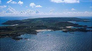 Alderney aerial view