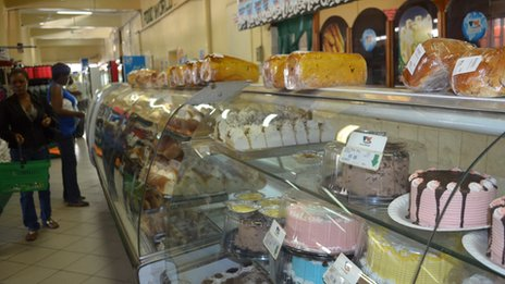Cakes and bread in a Harare supermarket - March 2013