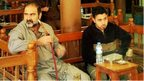 Iraqi men in a coffee house