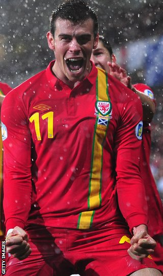 Gareth Bale fired a double for Wales