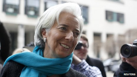 Christine Lagarde in Frankfurt. 19 March 2013