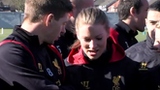 Liverpool ladies train with men's team
