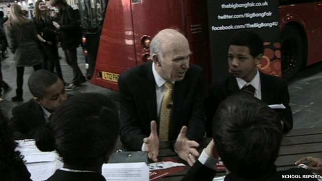 Vince Cable Big Bang Science Fair