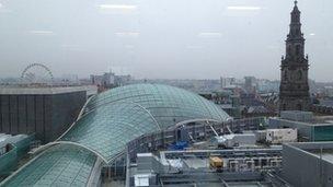Trinity Leeds domed roof
