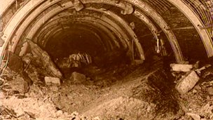 A tunnel in the Lofthouse Colliery