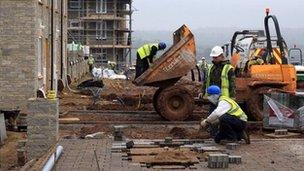 New homes under construction near Bristol