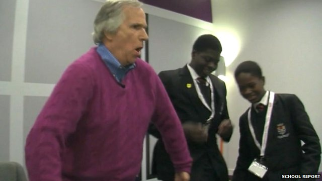 Henry Winkler and School Reporters