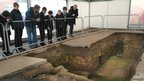 BBC School Reporters from Catmose College visit Richard III's burial site