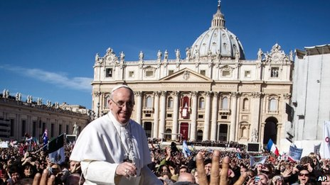 "Pope Francis in St Peter""s Square (19 March 2013)"
