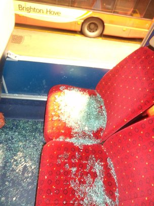 Brighton bus damage