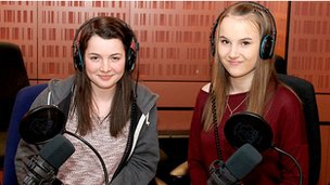 Lauren and Holly from Bartley Green School, Birmingham