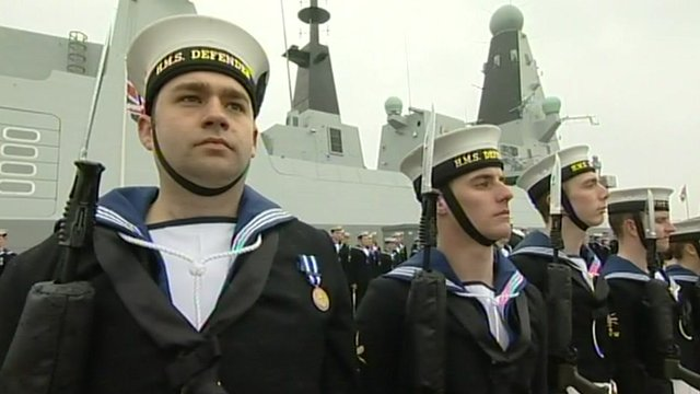HMS Defender commissioning ceremony