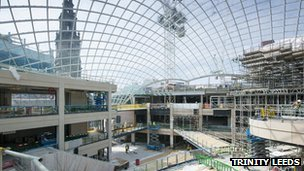 Construction on Trinity Leeds