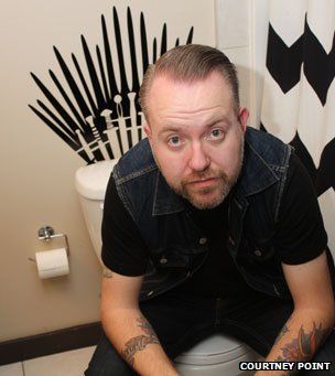 "Brent Sheen and his ""Game of Thrones"" toilet transfer"