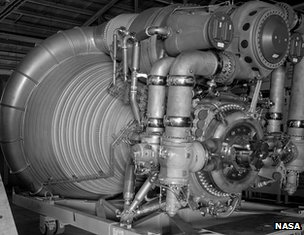 Apollo-era image of F1 engine