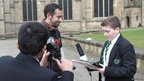 School Reporters interviewed Dan about acting in Shakespearean plays